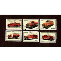 Марки-НИКАРАГУА-1983-Пожарные автомобили