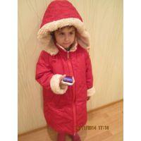 Куртка зимняя на овчине на рост 110 Снегурочка