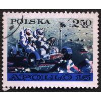 """Космос. Польша 1971. """"Аполло-15"""". Полная серия, гаш."""