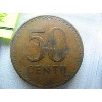 Литва 50 центов 1991 г.