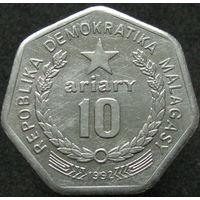 1к Мадагаскар 10 ариари 1992 распродажа коллеции