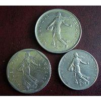 Франция. 3 монеты 1964-1983 г.