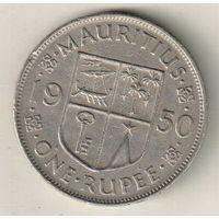 Маврикий 1 рупия 1950