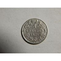 Бавария 1 крейцер 1871г