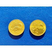 Мальта. 1 цент 1986, 1 цент 2007.