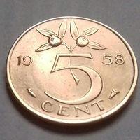 5 центов, Нидерланды 1958 г.