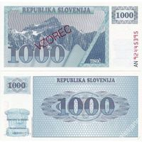 Словения. 1000 толаров 1990. образец [UNC]