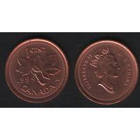 Канада _km289 1 цент 1999 год (-) (f31)**
