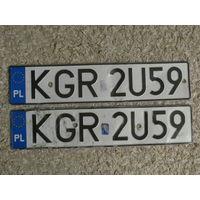 Автомобильный номер Польша KGR2U59