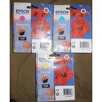 НОВЫЕ Струйные картриджи Epson C13T17024A10, Epson C13T17034A10, Epson C13T17044A10 за 10 руб. любой