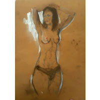 Рисунок пастелью на бумаге, формат  А4