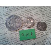 С рубля! Лот Ag монет старой Европы  (лот#8.Z)