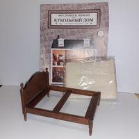 Кровать дерево и журнал (кукольный дом в викторианском стиле, подойдёт к Дом мечты ДеАгостини DeAgostini, миниатюра 1:12)