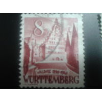 Германия 1949 Вюртемберг фр. зона ратуша