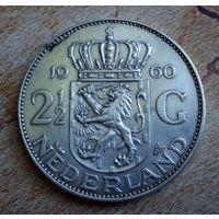 Нидерланды. 2,5 гульдена 1960 г.