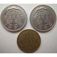 Макао 1 патака 1992 + 1 патака 1992 + 50 авос 1993 гг. Цена за все (u)