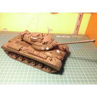 Модель танка M47 Patton 2, собранная и окрашенная, масштаб 1/35.
