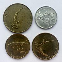 Словения набор 4 монеты  XF-VF