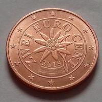 2 евроцента, Австрия 2019 г., UNC