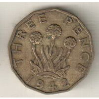 Великобритания 3 пенс 1942