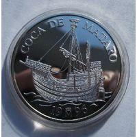 Испания, 5 экю, 1996, серебро, пруф