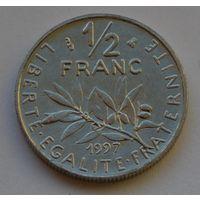 Франция, 1/2 франка 1997 г.