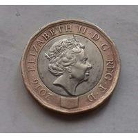 1 фунт, Великобритания 2016 г.