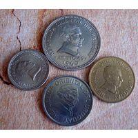 Уругвай. 4 монеты 1960-2008 г.