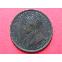 1 пенни 1912 H, Австралия бронза