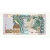 Сан-Томе и Принсипи 10000 добрас 1996 года. Состояние UNC!