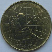 Италия 200 лир 1980 ФАО холдер