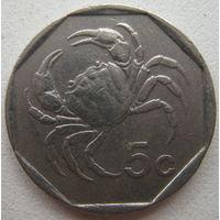 Мальта 5 центов 1991 г. (g)