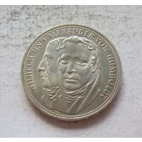 Германия 5 марок 1967 200 лет со дня рождения Вильгельма и Александра фон Гумбольдтов