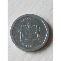 Ямайка 5 долларов 1996г.