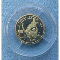 Либерия, 10 долларов, 2008 г. ЧЕ по футболу. Россия