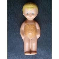 Старая Советская резиновая игрушка Мальчик.