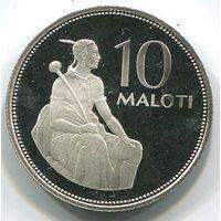 ЛЕСОТО - 10 МАЛОТИ 1980 PROOF