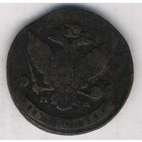 5 копеек 1788 г. М М . Медь. Перечекан из 10-ти копеек.