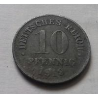 10 пфеннигов, Германия 1919 г., цинк