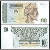 Грузия 100 лари 1995  UNC