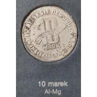 Распродажа! 10 марок 1943 г., гетто в Лодзи AL-Mg, тип c