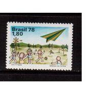 Бразилия-1978(Мих.1665)  ** , Спорт, футбол