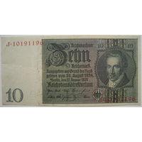 Германия 10 марок 1929 г. (d)