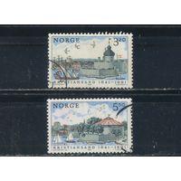 Норвегия 1991 300 лет Кристиансанну Вид города Полная #1064-5
