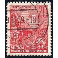 132: Германия (ГДР), почтовая марка, 1955 год