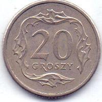 Польша, 20 грошей 1992 года.
