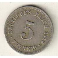 Германия 5 пфенниг 1912 А