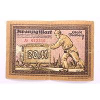 Германия (Freiberg), 20 марок 1918 год, - редкая - ,  = Р а Д а Р =
