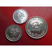 Хорватия 3 монеты ФАО 1995 - 1 и 20 липа, 2 куны (UNC)