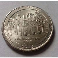 """25 центов, квотер США, нац. парк """"Харперс Ферри"""" (штат Западная Вирджиния), P"""